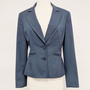 express | blue two button lined tailored blazer 4